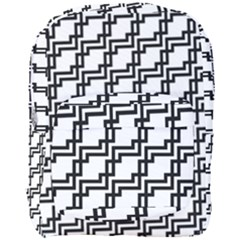 Pattern Monochrome Repeat Full Print Backpack by Pakrebo