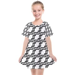 Pattern Monochrome Repeat Kids  Smock Dress