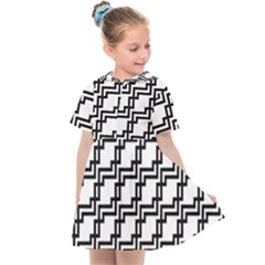 Pattern Monochrome Repeat Kids  Sailor Dress by Pakrebo