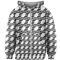 Pattern Monochrome Repeat Kids  Zipper Hoodie Without Drawstring