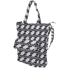 Pattern Monochrome Repeat Shoulder Tote Bag