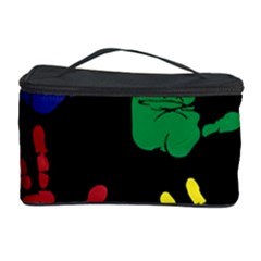 Handprints Hand Print Colourful Cosmetic Storage by Pakrebo