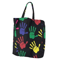 Handprints Hand Print Colourful Giant Grocery Tote