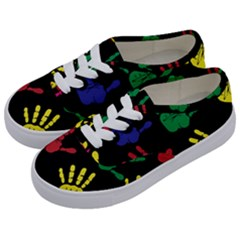 Handprints Hand Print Colourful Kids  Classic Low Top Sneakers by Pakrebo