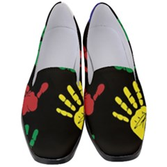Handprints Hand Print Colourful Women s Classic Loafer Heels