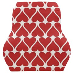 Hearts Pattern Seamless Red Love Car Seat Back Cushion  by Pakrebo