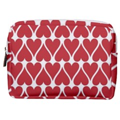 Hearts Pattern Seamless Red Love Make Up Pouch (medium)