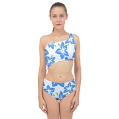 Hibiscus Wallpaper Flowers Floral Spliced Up Two Piece Swimsuit