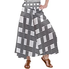 Seamless Stripe Pattern Lines Satin Palazzo Pants by Pakrebo