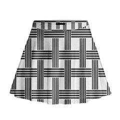 Seamless Stripe Pattern Lines Mini Flare Skirt