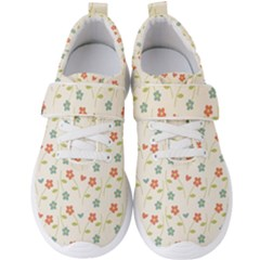 Floral Pattern Wallpaper Retro Men s Velcro Strap Shoes by Pakrebo