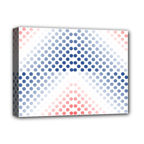 Dots Pointillism Abstract Chevron Deluxe Canvas 16  X 12  (stretched)