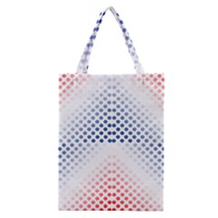 Dots Pointillism Abstract Chevron Classic Tote Bag by Pakrebo