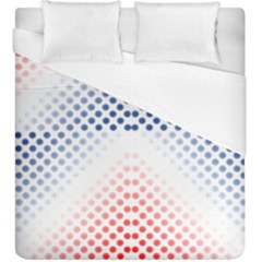 Dots Pointillism Abstract Chevron Duvet Cover (king Size)