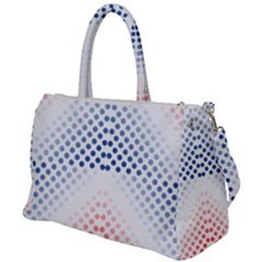 Dots Pointillism Abstract Chevron Duffel Travel Bag