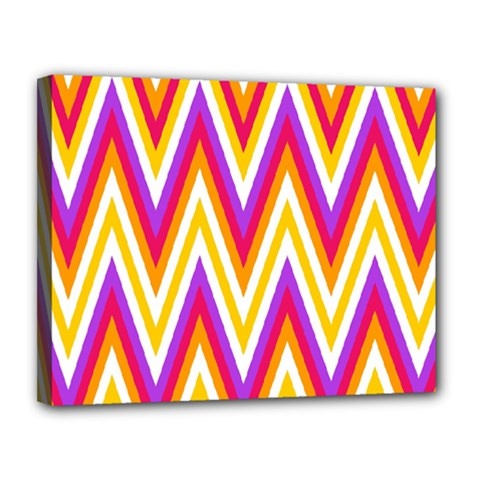 Chevrons Stripes Pattern Geometric Canvas 14  X 11  (stretched)