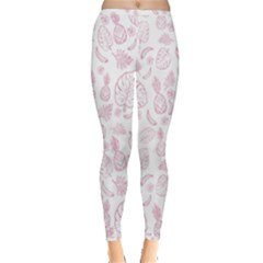 Tropical Pattern Inside Out Leggings
