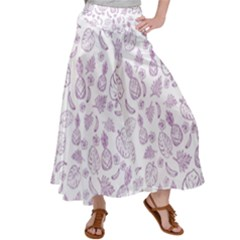 Tropical Pattern Satin Palazzo Pants by Valentinaart