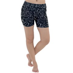 Tropical Pattern Lightweight Velour Yoga Shorts by Valentinaart