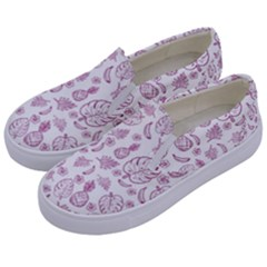 Tropical Pattern Kids  Canvas Slip Ons by Valentinaart