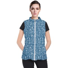 Tropical Pattern Women s Puffer Vest