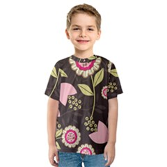 Flowers Wallpaper Floral Decoration Kids  Sport Mesh Tee