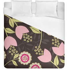 Flowers Wallpaper Floral Decoration Duvet Cover (king Size) by Pakrebo