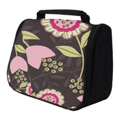 Flowers Wallpaper Floral Decoration Full Print Travel Pouch (small)