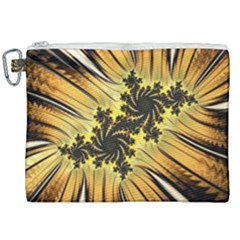 Fractal Art Colorful Pattern Canvas Cosmetic Bag (xxl)