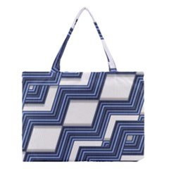 Geometric Fabric Texture Diagonal Medium Tote Bag