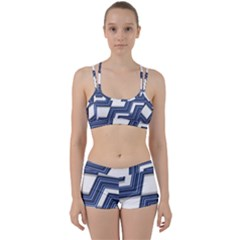 Geometric Fabric Texture Diagonal Perfect Fit Gym Set