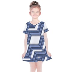 Geometric Fabric Texture Diagonal Kids  Simple Cotton Dress by Pakrebo