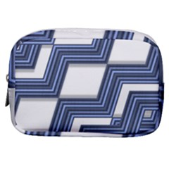 Geometric Fabric Texture Diagonal Make Up Pouch (small)