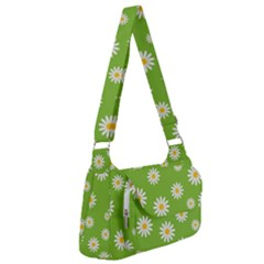 Daisy Flowers Floral Wallpaper Post Office Delivery Bag by Pakrebo