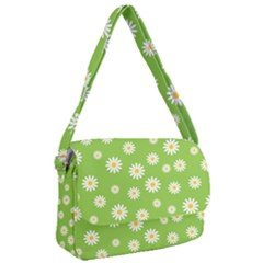Daisy Flowers Floral Wallpaper Courier Bag