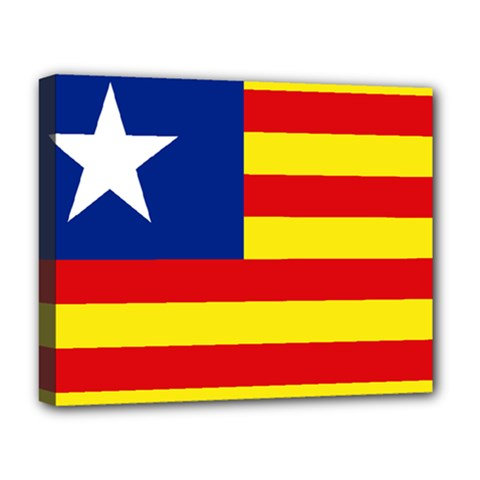 Flag Of Estado Aragonés Deluxe Canvas 20  X 16  (stretched) by abbeyz71