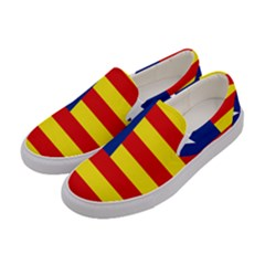 Flag Of Estado Aragonés Women s Canvas Slip Ons by abbeyz71