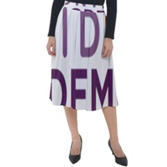 Logo Of Unidos Podemos Electoral Alliance (spain) Classic Velour Midi Skirt