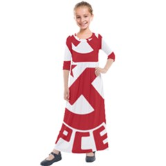 Logo Of United Left Political Coalition Of Spain Kids  Quarter Sleeve Maxi Dress by abbeyz71