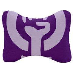 Logo Of Feminist Party Of Spain Velour Seat Head Rest Cushion by abbeyz71
