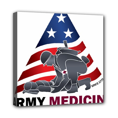U S  Army Medicine Logo Mini Canvas 8  X 8  (stretched) by abbeyz71