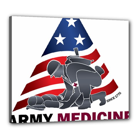 U S  Army Medicine Logo Canvas 24  X 20  (stretched) by abbeyz71