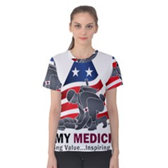 U S  Army Medicine Logo Women s Cotton Tee by abbeyz71