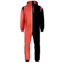 Black & Coral Hooded Jumpsuit (men)