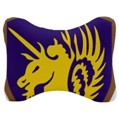 Shoulder Sleeve Insignia Of The United States Army 13th Airborne Division Velour Seat Head Rest Cushion by abbeyz71