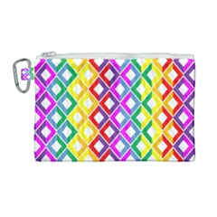 Rainbow Colors Chevron Design Canvas Cosmetic Bag (large)