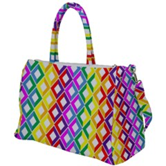 Rainbow Colors Chevron Design Duffel Travel Bag