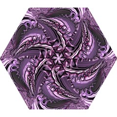 Purple Fractal Flowing Fantasy Mini Folding Umbrellas