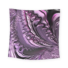 Purple Fractal Flowing Fantasy Square Tapestry (small) by Pakrebo