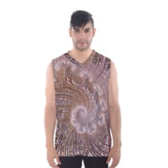 Fractal Art Pattern 3d Artwork Men s Basketball Tank Top